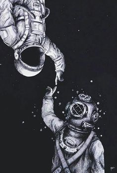Astronauta e mergulhador. i like the message of two world metting one another. Poster S, Cute Quotes, Clever Quotes, Kawaii Quotes, Sweet Love Quotes, Beautiful Words, Beautiful Poetry, Beautiful Soul, Beautiful Things