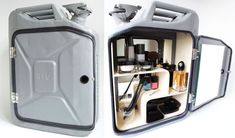 Danish Fuel remodeled old Jerry Cans into stylish bathroom cabinets