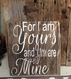 For I am yours and you are mine Oceans by RescuedandRepurposed, $55.00