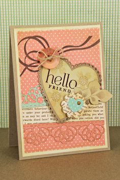 Hello Friend Card by Erin Lincoln for Papertrey Ink (December 2012)