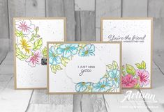 Stampin Up Blended Seasons - Stitched Seasons limited time bundle & watercolor crayon pack Available August 2018 or July 18 for new-current SU Demonstrators Cards For Friends, Friend Cards, Stampin Up Catalog, Stamping Up Cards, Card Making Inspiration, Card Maker, Cool Cards, Flower Cards, Homemade Cards