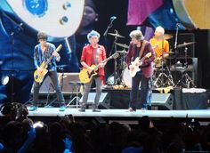 """Ronnie, Keith, Mick Taylor and Charlie, playing """"Satisfaction."""""""