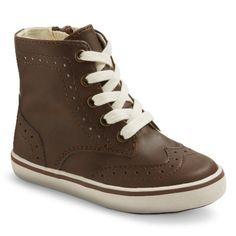 Toddler Boy's Cherokee® Tobias High Top Wingtip Sneakers - Brown