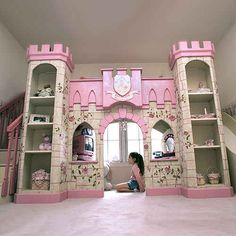 Five words: Princess Castle Playhouse Loft Bed