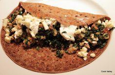 cookvalley - tanker om mad: Boghvedepandekager med fyld af svinekød, grønkål og sucuk