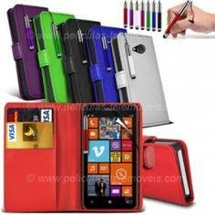 Bolsa Carteira Pele Nokia Lumia 625 + Película + Stylus
