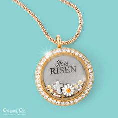 Locket He is Risen Easter 2016 Origami Owl locket - Origami Owl is a leading custom jewelry company known for telling stories through our signature Living Lockets, personalized charms, Origami Owl Charms, Origami Owl Lockets, Origami Heart, Origami Owl Jewelry, Locket Bracelet, Pandora Bracelet Charms, Charm Bracelets, Pandora Jewelry, Pandora Pandora
