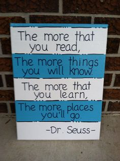 The More That You Read Dr Seuss Quote by LeighMarieBoutique, $18.00