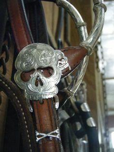 Silver Skull Headstall
