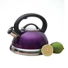 Creative Home Alexa 3 Qt Stainless Steel Whistling Tea Kettle - Metallic Purple Kitchen Appliance Storage, Kitchen Appliances, Small Appliances, Purple Toaster, Purple Kitchen Accessories, Lowes Home, Kitchen Items, Kitchen Gadgets, Kitchen Dining