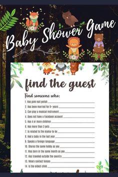 woodland trees bear boy baby around the world game  woodland baby shower printable baby shower game