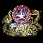 Gold Dragon Phoenix Base Plasma Ball Magic Lighting Sphere Tesla Lamp-LED Night Lights