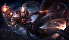League of Legend Hired Gun Lucian Wallpaper Wallpaper