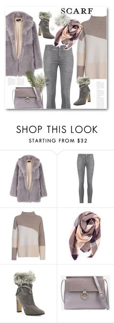 """""""Winter Scarf Style"""" by bliznec ❤ liked on Polyvore featuring TIBI, Current/Elliott, French Connection, Everest, Manolo Blahnik, scarf, polyvoreeditorial and polyvorecontest"""