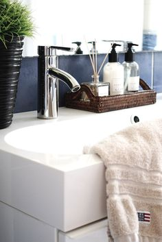 Bathroom, Zara Home, Newport rattan tray, Lexington