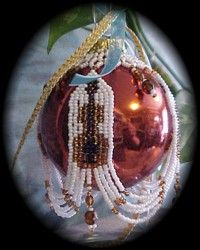 Strings Sweep Christmas Ornament Cover : Beading Patterns and kits by Dragon!, The art of beading. (If you would like to see this item on our website, click on the picture). $17.95