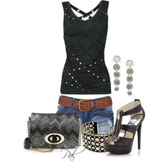 Rockin the Tank, created by pamlcs on Polyvore