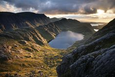 Gorm Loch Mor and Fionn Loch beyond from A Mhaighdean mountain. by Lonely Planet Images on artflakes.com as poster or art print $18.44