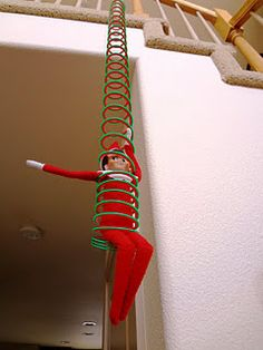 Elf on a Slinky - Slinky jumping