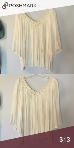 White flowy top White/cream top. Brand new. Worn once or twice. Hand washed once. Wet Seal Tops Blouses