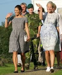 Crown Princess Victoria of Sweden and Crown Princess Mette-Marit of Norway in a Climate Pilgrimage 2015