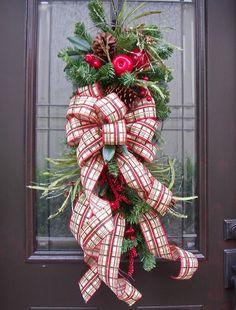 Christmas Ribbon Swag