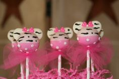 Minnie Mouse Inspired Hot Pink and Zebra Print Cake Pops