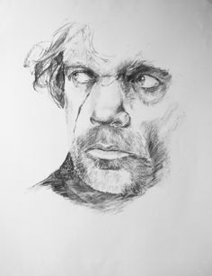 Game of thrones fanart Tyrion Lannister charcoal drawing