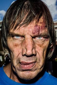 In your face: Bruce Gilden's extreme closeups – in pictures