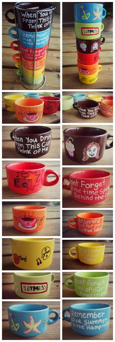Memory Mugs <3 This is such a cute idea!!!!!