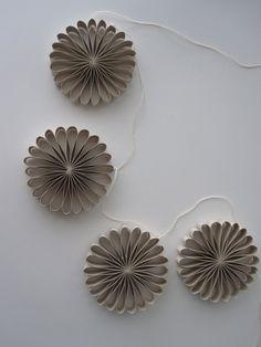 Paper Flower Garland. $10.00, via Etsy.