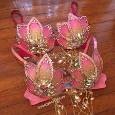 Gilded Lotus Bras - seagypsy couture [formerly whythecagedbirdsingz] #edc