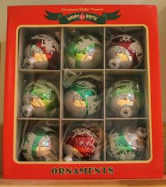 Love these Shiny Brite ornaments. Look for good prices on these at Home Goods and T.J. Maxx. Nearest store: Colorado Springs.