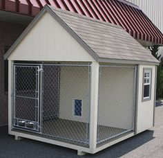 Shed with attached kennel