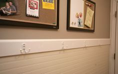 hooks could do this with bead board wall paper but upright not longatted