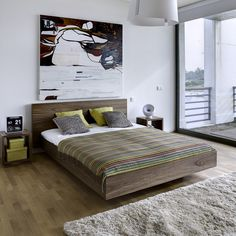 Letto Float noce