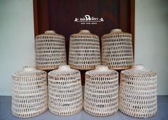 #โคมไฟไม้ไผ่ #สุ่มสานโคมไฟ #โคมไฟซาฮ้อ #ไม้ไผ่สาน #โคมไฟจักสาน #ตกแต่งร้านอาหาร #อาหารไทย #bamboolight #bamboolampshade #bamboolamp #hanginglight #ethniclight #thaithai #bamboo #rattan #weave #wovenbamboo #hangingbamboo #homeideas #lightingideas #homedesign Bamboo Lamp, Jar, Home Decor, Jars, Interior Design, Home Interior Design, Glass, Home Decoration, Decoration Home