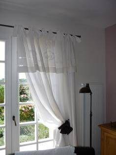 6c2aa9f0cb08 Rideau en drap ancien linge de maison (photo 1) Vieux Draps, Linge De