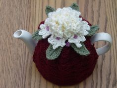 -Cup Crochet Tea Cosy/ Tea Cozy/ Cosy/ Cozy Maroon with Cream ...