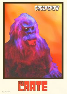 Creepshow The Crate Trading Card by Hartter on DeviantArt Horror Icons, Horror Movie Posters, Best Horror Movies, Horror Films, Horror Artwork, Creepy Stories, Best Horrors, Vintage Horror, Scary Halloween