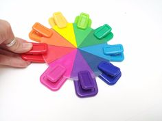 Montessori inspired color matching bag clips activity, fine motor skills