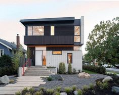 Architect Randy Bens has completed a new home in Vancouver, Canada. The home has an exterior clad in white brick, dark stained cedar siding, and metal trim. Residential Architecture, Architecture Design, Architecture Today, Amazing Architecture, Vancouver House, Clad Home, White Brick Walls, White Bricks, Cedar Siding
