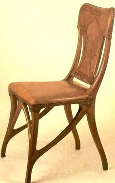 Eugène Gaillard – chaise Art Nouveau Furniture, Antique Furniture, Furniture Design, Mobiliário Art Nouveau, Architecture Art Nouveau, Love Chair, Arts And Crafts Furniture, Aesthetic Movement, Victorian Art