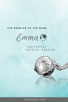 """The meaning of the name Emma is """"universal."""" See the Emma personalized necklace at naymeinc.com"""