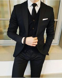 Now that's how you wear a black suit