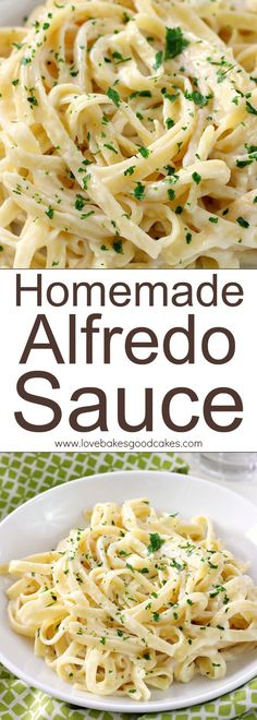 Homemade Alfredo Sauce ~ the jarred stuff doesn't even compare, and it's so quick and easy to make from scratch!