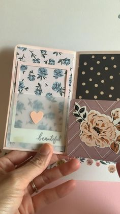 """A fun mini album flipbook using single sided paper with acway to cover up your """"plain"""" side Bullet Journal Lettering Ideas, Bullet Journal Books, Bullet Journal Ideas Pages, Junk Journal, Scrapbook Journal, Mini Scrapbook Albums, Scrapbook Paper, Scrapbook Supplies, Scrapbooking Ideas"""