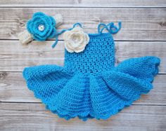 Baby Dress Baby Girl Dress Newborn Dress por KnitAndCrochetLAND