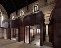 Ollier Smurthwaite reveals plans for church-to-flat conversion Residential Architecture, Interior Architecture, Church Conversions, Manchester City Centre, Brickwork, Flat, Open Plan, Play Houses, Facade