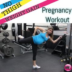 Love this! No Thigh Weight Gain Pregnancy Workout.  Exercises that are safe during all trimesters of pregnancy to help prevent the legs and butt from getting big. All the exercises can be done from home.  http://michellemariefit.publishpath.com/no-thigh-weight-gain-pregnancy-workout
